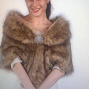 Fur Faux Shawls or Wrap